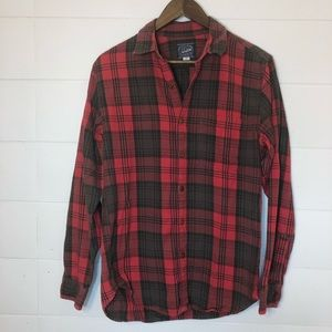 J Crew Flannel Button Down Shirt